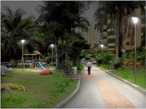 Así quedaría iluminado el parque Las Palmas.