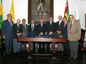 Carlos Cortés Caballero, Efraín Ardila, Libardo León Guarín, Armando Martínez Garnica, Miguel José Pinilla, Carlos Mauricio Serrano, Franz Mutis Caballero, Gonzalo Afanador y Julio Valdivieso.