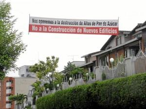 La comunidad de Pan de Azúcar se ha pronunciado en repetidas ocasiones contra las construcciones en este sector.