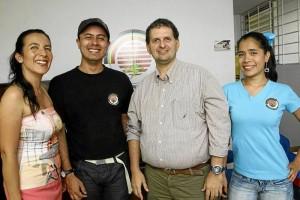 María Caterine López Prieto, José Alejandro González Ortiz, Mauricio Plata Acevedo y Derly Juliana Ayala Vargas son algunos de los líderes de la Fundación Jóvenes por la Vida.