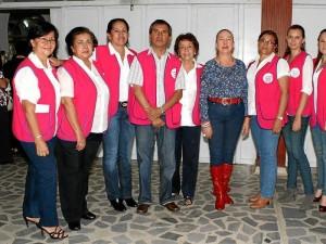 Esperanza de Duarte, María Elena de Pérez, Alba Silva de Becerra, Juan Montaña, Estella de Pinzón, Dora Chaparro, Jeny Zafra, Alba Dueñas y Melba Castillo.