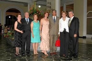 Ana Leonor Rueda, Jorge Cortissoz, María Lucía de Cortissoz, Petra Barón, Hilario Barón,  Marina Gutiérrez de Piñeres y Germán Pava.