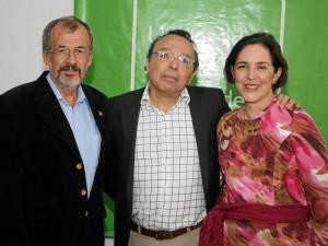 Luis Álvaro Mejía, Patricio Rivas y María Adelaida Jaramillo.