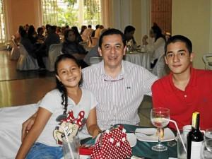 Tala Pedraza, Miguel Ángel Pedraza y Diego Alejandro Pedraza.