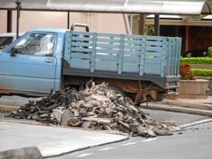 Los escombros fueron abandonados en la carrera 39 con calle 44.