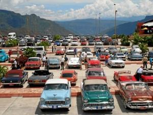 Los autos hicieron un recorrido por el Parque Nacional del Chicamocha.