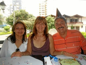 Betty Carreño, Teresa de Vega y Carlos Vega.