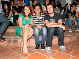 Silvia Gómez, Diego Gómez y Loic Josselin.