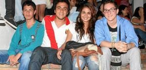 Juan Gómez, Diego Alejandro Morales, Angélica Zarruk y Nicolás Flórez.