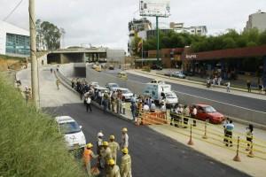 Aunque no fue anunciado con tiempo, los periodistas estuvieron al tanto de la apertura de los carriles de Neomundo.