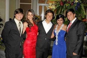 Julián Vargas, Karen Blanco, Carlos Patiño, Carla Mantilla y Jorge Serrano.