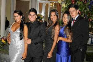Daniela Vargas, Felipe Villabona, María Carolina Romero, María Fernanda García y Carlos Gómez.
