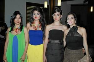 Alba Stella Franco, Nicol Díaz, Lorena López y Mer-cedes Reyes.