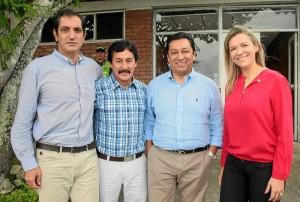 Ludwig Stünkel, gerente del Acueducto Me-tropolitano de Bucaramanga; Bernabé Celis, Senador de la República; Luis Francisco Bohórquez, alcalde de Bucaramanga, y Silvia Camargo, directora del Invisbu.