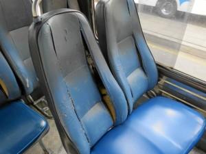 Muchas sillas estaban así, con las espumas al aire.