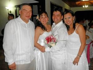 Joan Barajas, Diana Barajas, Wilson Chimbi y Elena Laguado.