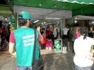 La oficina de Defensoría del Espacio Público anunció reiterativos operativos en Cabecera.