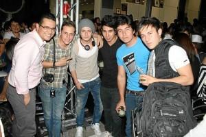Jonathan Suárez, Carlos Mario Niño, Camilo Echeverry, Javier Flórez, Tato Pedraza y Sergio Camilo Rueda.