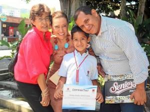 Ana Delia Gahona, Magda Milena Amado Gahona, Daniel Andrés Tamayo y Oscar Tamayo Aguilar