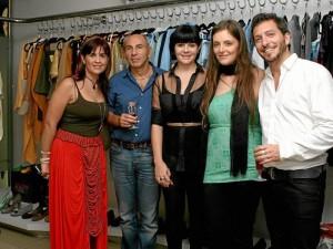 Ana Milena Alfonzo, Valerio Lorusso, Silvia Alfonzo, Mariela García y Pablo Saba. (Foto Mauricio Betancourt )