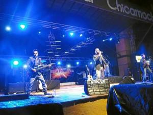 Lucas Arnau estuvo en la Fiesta de la Independencia en Panachi.