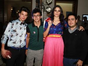Sergio Lillo, Diego Arciniegas, Andrea Garzón y Oscar Olaya.