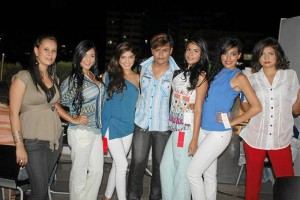 Daniela Rodríguez, Adriana Arias, Juliana Moreno, Daniel Praga, Katherine Cáceres, Maira Ibáñez y Daniela Cala. (Fotos Nelson Díaz).
