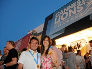 Luego del evento de premiación en Cannes.