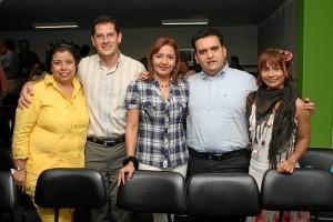 Jaqueline Andrea Caballero, Henry Herrera Jaimes, Sonia Cristi-na Ariza, Leonardo Tarazona y Laura Serrano.