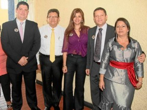 Jesús Adrián Díaz, José Raúl Miranda, Glenys Pedraza, Edwin Contreras y Eugenia Elena Pinzón. (Foto Adolfo Herrera )