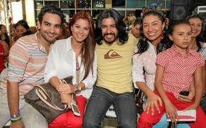 Julián Díaz, Andrea Niño, Frank Bayona y Catalina Castro.