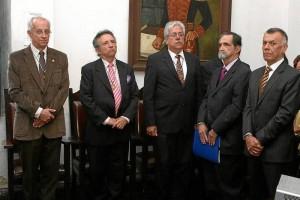 Manuel Rey Sanmiguel, Jorge Humberto Galvis, Fabio Torres Barrera, Héctor Hernando Díaz y Gustavo Pedraza.
