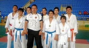 Los karatekas de La Presentación también tuvieron una brillante participación en los juegos.