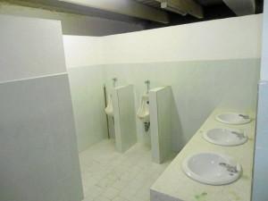 Los baños se terminaron de montar en diciembre de 2011.