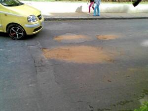 El hueco fue tapado hace unos días por un ciudadano del común. Suministrada  Luz Marina de Zárate / GENTE DE CABECERA