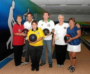Luz Elena Díaz, Wilson Navas, Javier Rodríguez, Hilda de Patiño, Piedad Luna y Andrés Botero.
