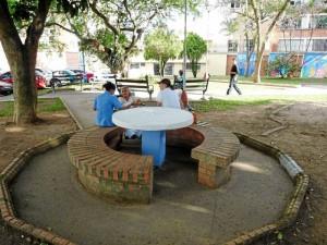 Con la jornada el parque se ve más limpio y organizado. ( FotoNelson Díaz )