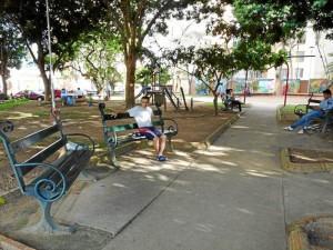 Con la jornada el parque se ve más limpio y organizado.( Foto Nelson Díaz )