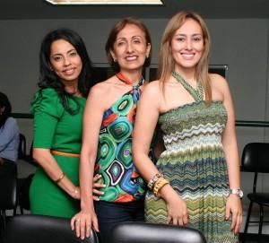 Johana Chinchilla Fuentes, Gloria Torres Monroy e Inés Barrios.