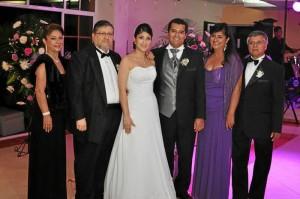 Gilma Pérez de Saavedra, Gabriel Saavedra Ramírez, Angélica María Saavedra Pérez,  Mauricio Lizarazo Moreno, Doris Moreno Infante y Ernesto Lizarazo Forero.