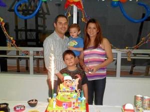 John Fitzgerald Orejarena Palacio, Daniel José Orejarena, Ana Milena Ariza y Gabriel Alejandro Orejarena Ariza.