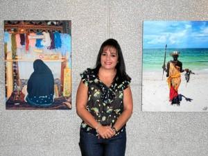 La exposición de Ana Milena Gavassa Cortés está abierta al público hasta el 7 de octubre, en la Cámara de Comercio de Bucaramanga. ( Foto Javier Gutiérrez )