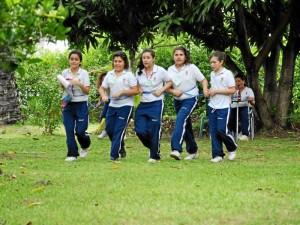 Mediante varios juegos las niñas practicaron ejercicios matemáticos. ( Fotos Suministradas)