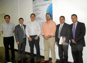 Carlos Lizarazo, José Vargas Caicedo, Francisco Javier Prada, Sergio Mendoza, José Abel Uribe y Sergio Flórez. (Foto por Javier Gutiérrez)