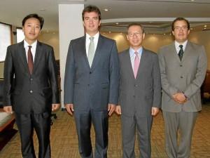 Chulhee Choi, Juan Camilo Beltrán, Jong Youn Choo y Juan Carlos Rincón Liévano.