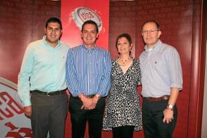 Alejandro Almeida, Jorge Iván Domínguez, Laura Domínguez y Julio César Ardila.