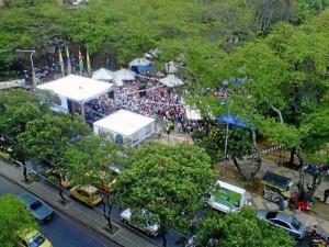 El parque San Pío estuvo a reventar el sábado y domingo con la actividad 'Puro Sabor Social'.