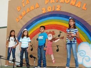 Los pequeños también celebraron la Semana Patronal.