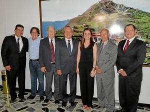 Custodio Ruiz, Hernando Santos, Víctor Caicedo, Héctor Hernández, Juliana Rodríguez, Gilberto Estrada y Boris Vega. ( Foto Nelson Díaz )