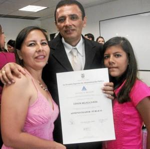 América Rodríguez Pérez, Edison Mojica Ojeda y Angélica Mojica.